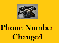 Change of Telephone Number
