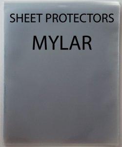 SHEET PROTECTORS - MYLAR