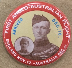 Replica Ross & Keith Smith 1919 Button Day Badge