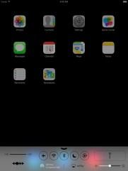Control Center in IOS 7 mit iPad