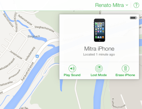 Find my iPhone Detail