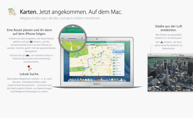 OS X Mavericks - Karten
