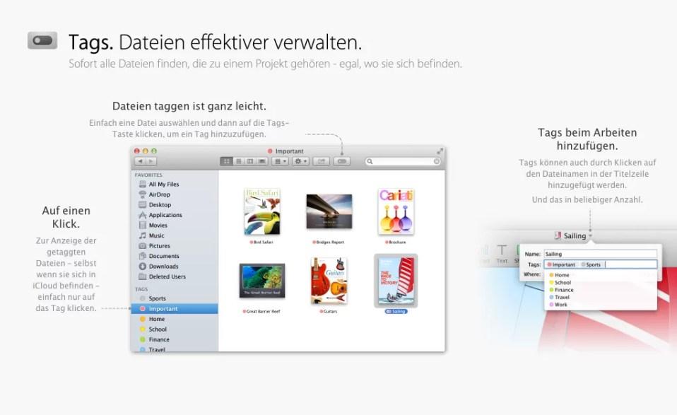 OS X Mavericks - Tags