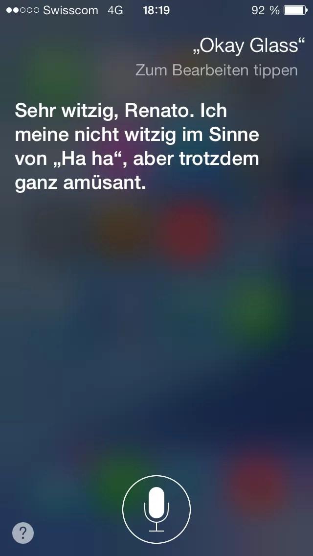 Siri Findet Okay Glass Nicht So Witzig Apfelblog