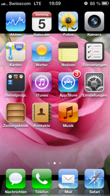 Swisscom LTE iPhone 5
