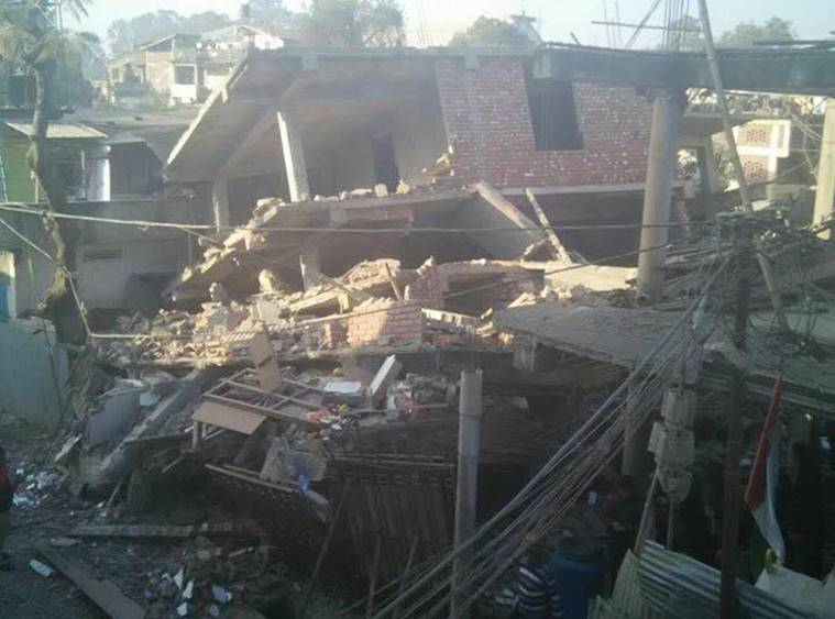 A 6.8 magnitude earthquake has struck northeastern India, killing at least five people and injuring nearly 100.