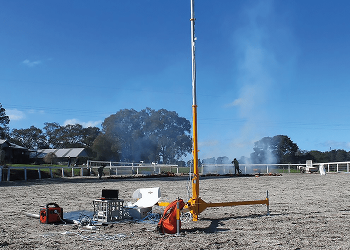 A test fire is set up for the TET-1 satellite to assess on pass-over.