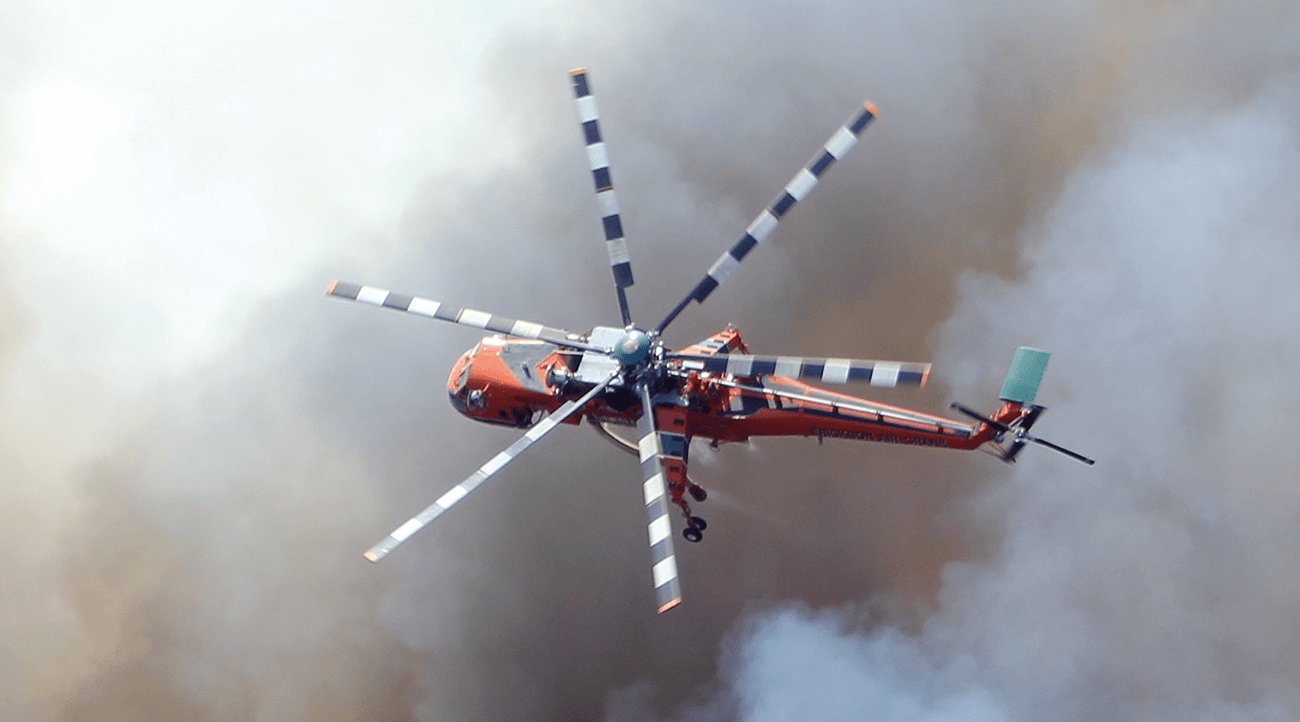 Aircraft are called to survey and fight firefronts too dangerous for ground crews.