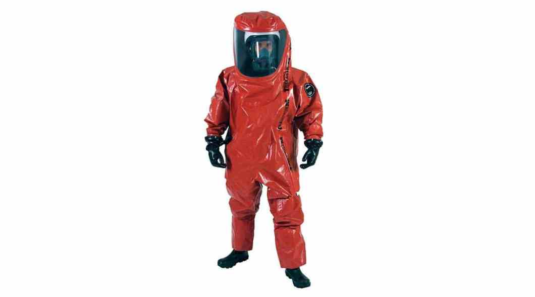 Leading-edge encapsulated protective suit.