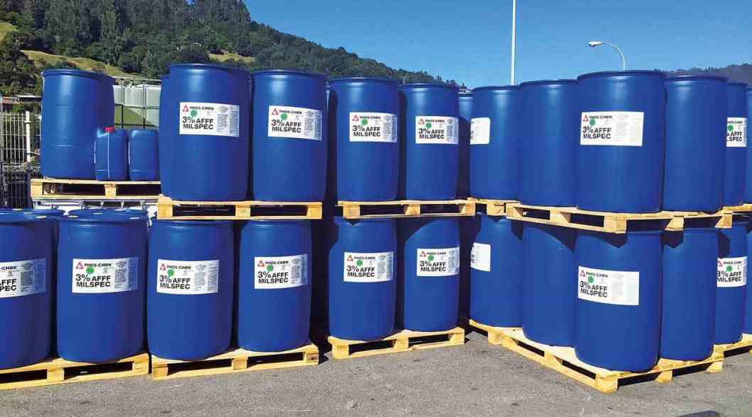 55 gallons drums stored awaiting shipping at Auxquimia´s Facility in Spain.