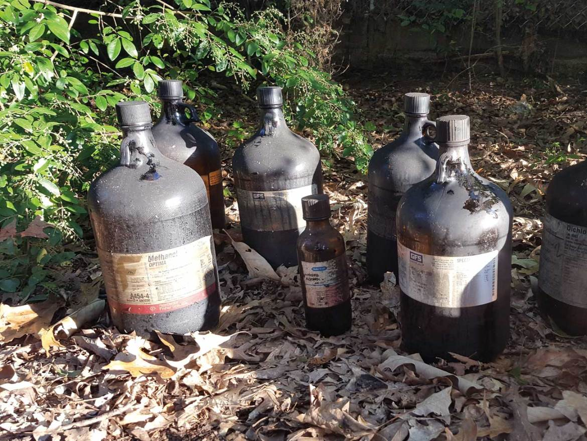 Dangers are always present. Multiple hazardous materials found while firefighters battled a house fire.
