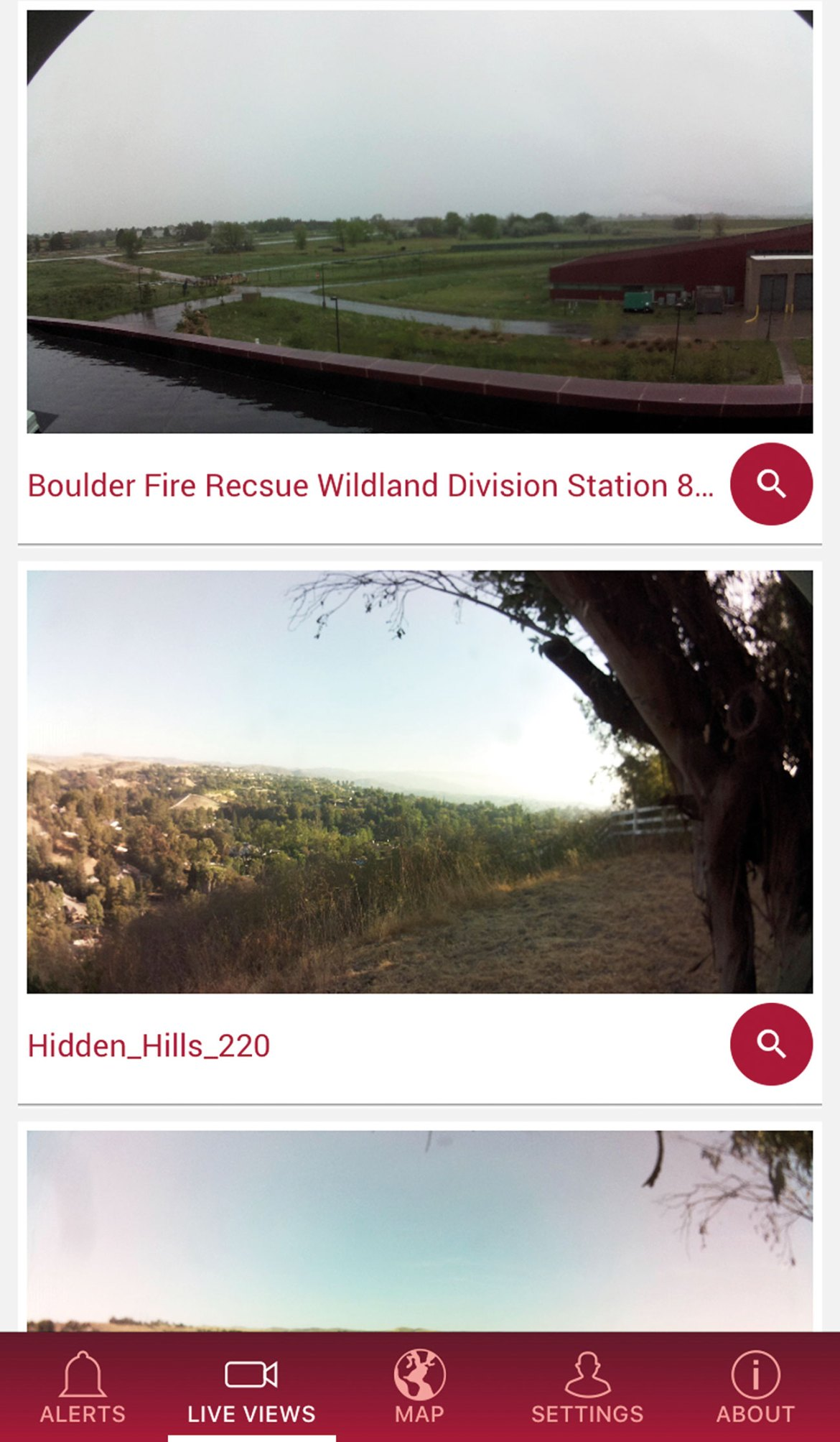 Live views available in the SmokeD Alerts mobile application.