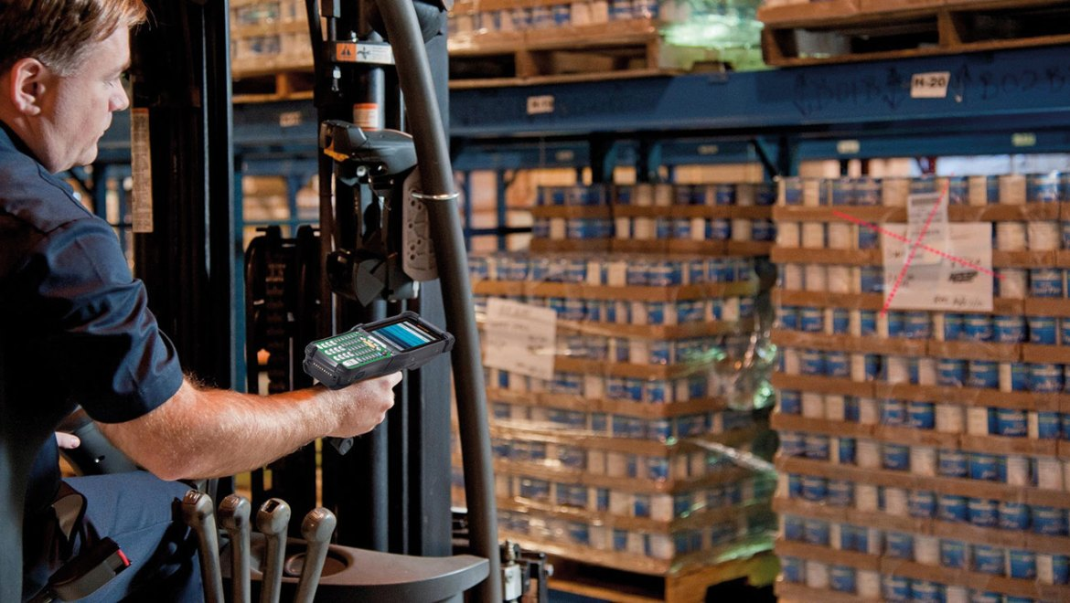 Intrinsically safe and rugged barcode scanner.