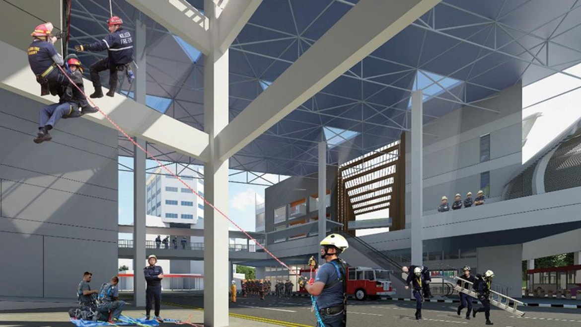 The Mixed-Use Premises will expose trainees to a variety of realistic fire and rescue scenarios.