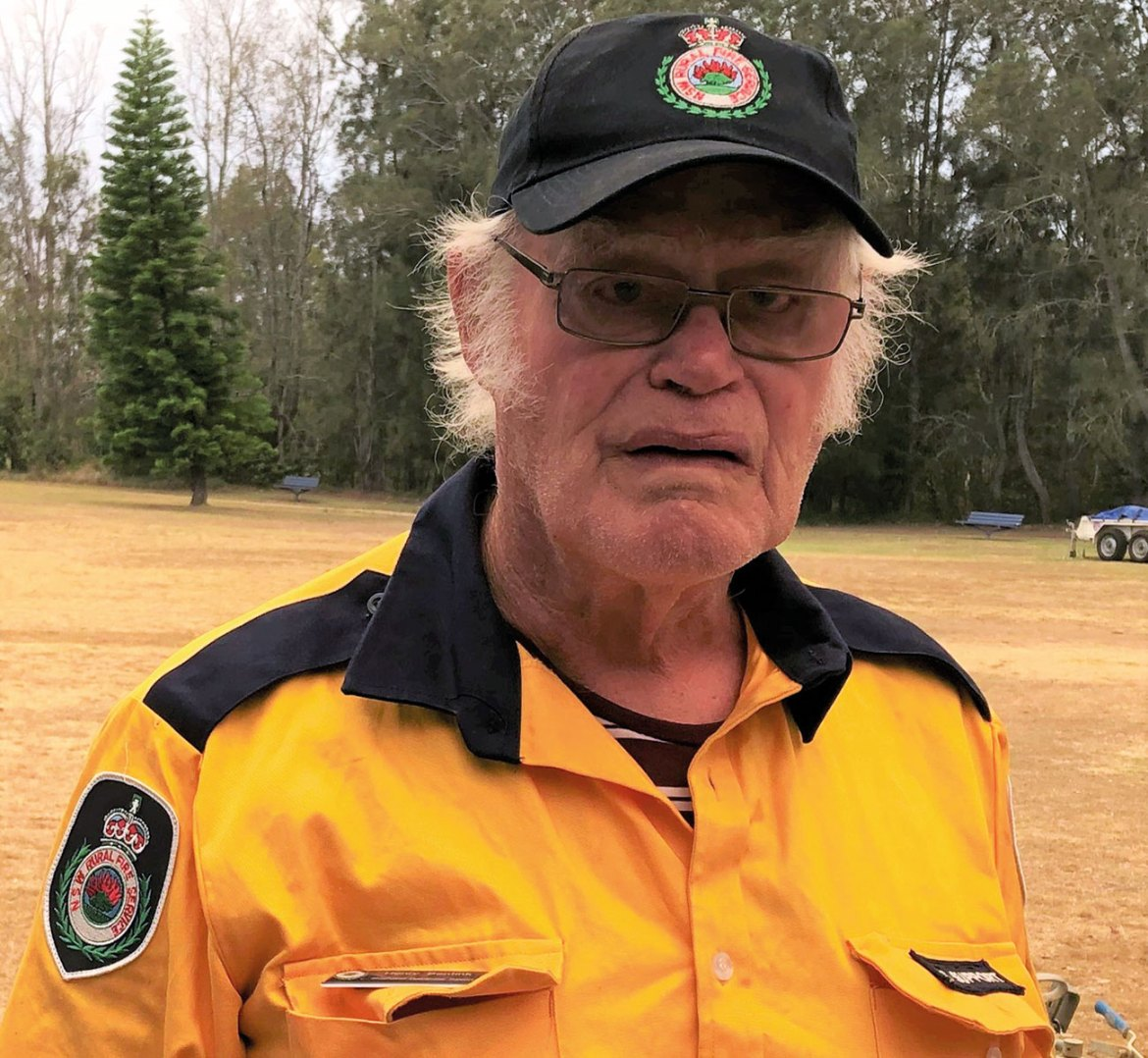 The face of everyday heroes. Harry Bendick is an RFS volunteer pictured during the Black Summer Fires.