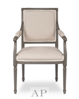 samuel-french-country-square-dining-side-bedroom-chair-wood-square-back-beige-side-armchair-front