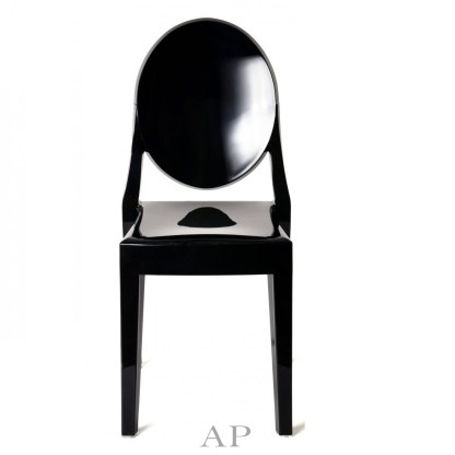 louis-ghost-dining-chair-black-front-apfurniture
