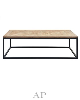 bradley-mango-wood-rectangle-coffee-table-parquetry-top-black-legs-1-ap-furniture