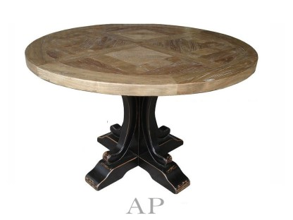 french-taylor-acaciAa-wood-round-dining-table-parquetry-top-oak-black-legs-ap-furniture