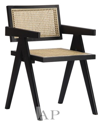 replica-pierre-jeanneret-cane-dining-armchair-black-solid-wood-ap-furniture