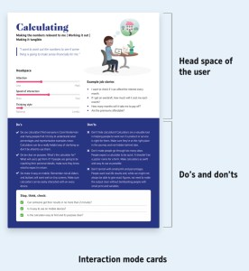 Interaction mode cards