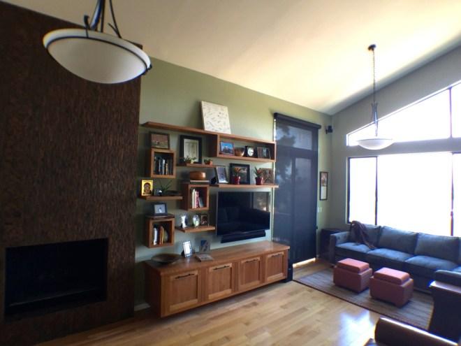 Contemporary Floating Shelves - Living Room