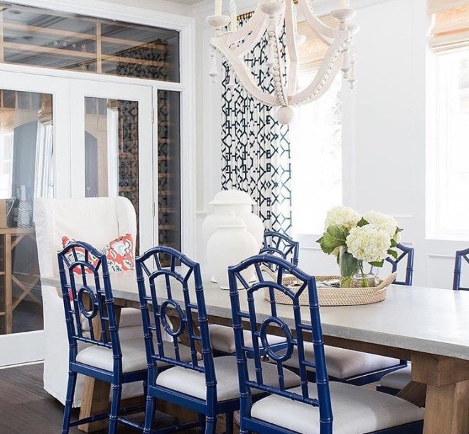 Navy Dining Chloe Chairs