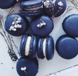 Navy Color Macaroons