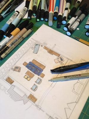 Interior Designer Drawing