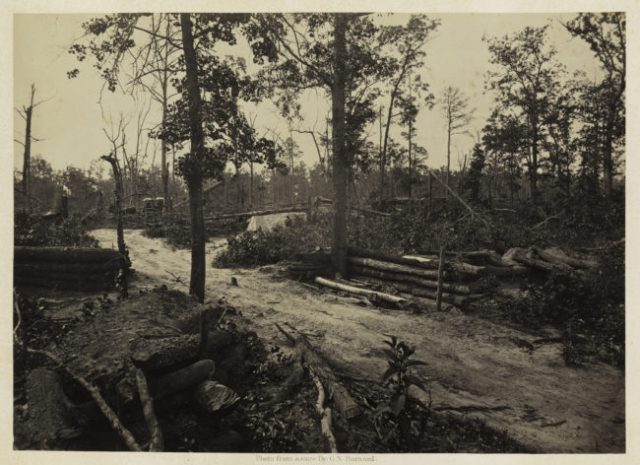 George N. Barnard, Battle Field of New Hope Church, Georgia, No. 1, from Photographic Views of Sherman's Campaign, 1866; albumen print; 10 x 14 1/8 in. (25.4 x 35.88 cm); Promised gift of Paul Sack to the Sack Photographic Trust