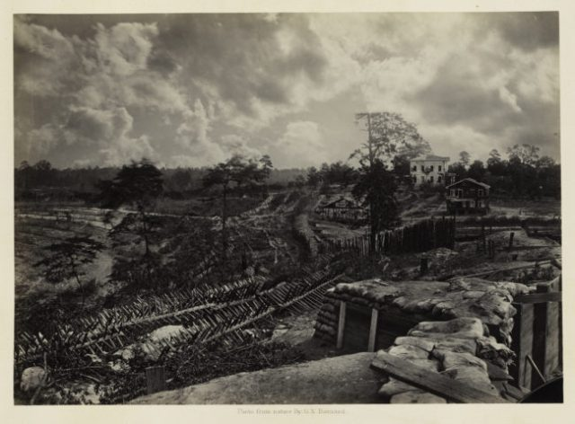George N. Barnard, Rebel Works in Front of Atlanta, Georgia, No. 1, from Photographic Views of Sherman's Campaign, 1864; albumen print; 10 1/8 x 14 1/8 in. (25.72 x 35.88 cm); Collection of the Sack Photographic Trust