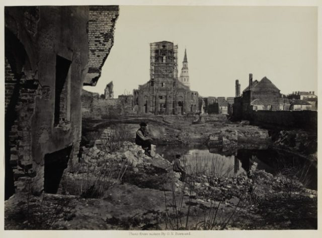 George N. Barnard, Ruins in Charleston, South Carolina, from Photographic Views of Sherman's Campaign, 1865 or 1866; albumen print; 10 1/8 x 14 1/8 in. (25.72 x 35.88 cm); Collection of the San Francisco Museum of Modern Art, fractional gift of Paul Sack, and collection of the Sack Photographic Trust of the San Francisco Museum of Modern Art