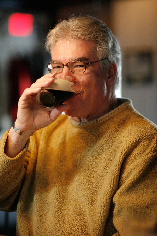 "Don ""Juan"" Garrido Sipping a Guinness © Kathleen Connally"