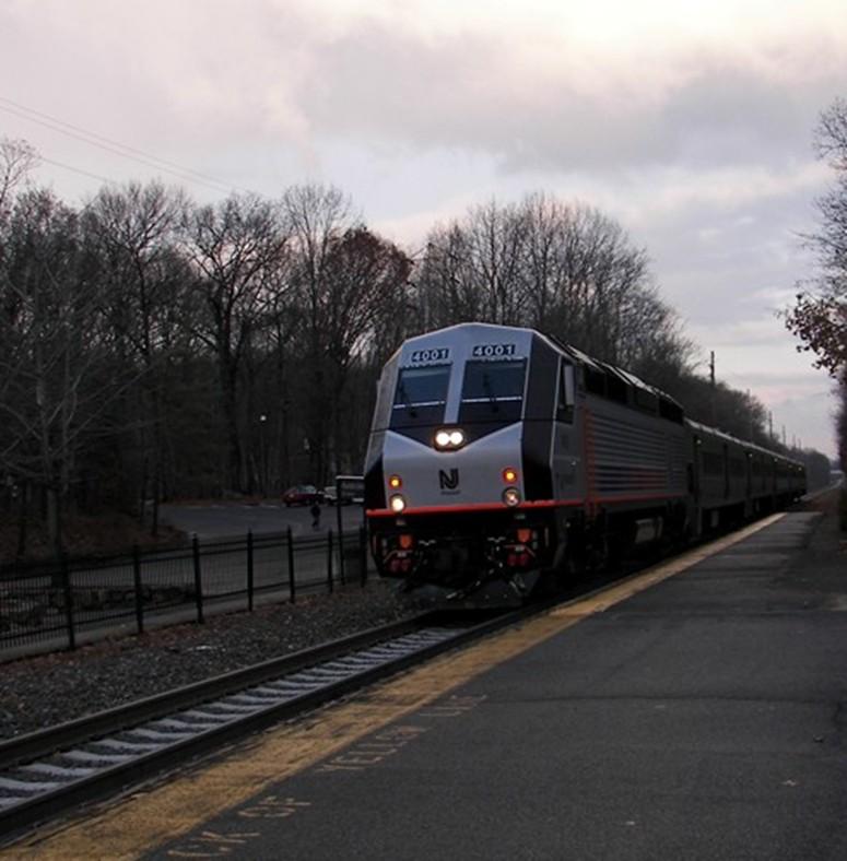 New Jersey Transit Train at Mountain Lakes