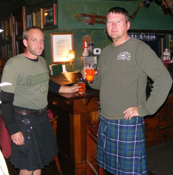 Men in Kilts at Porters Pub in Easton, PA