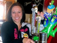Tapping a Pint of Sierra Blanca