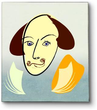 Shakespeare using Mr Picassohead
