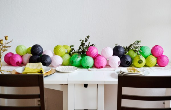 Image result for paper lantern table