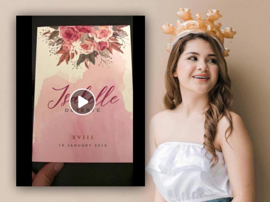 invitation for her 18th birthday