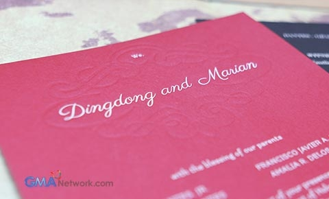 Look Inside Dingdong And Marian S Wedding Invitation