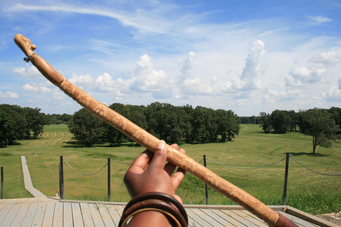 An Ornately Carved Atlatl & Obscure Cloud Formations J.R. Trotter Photography©