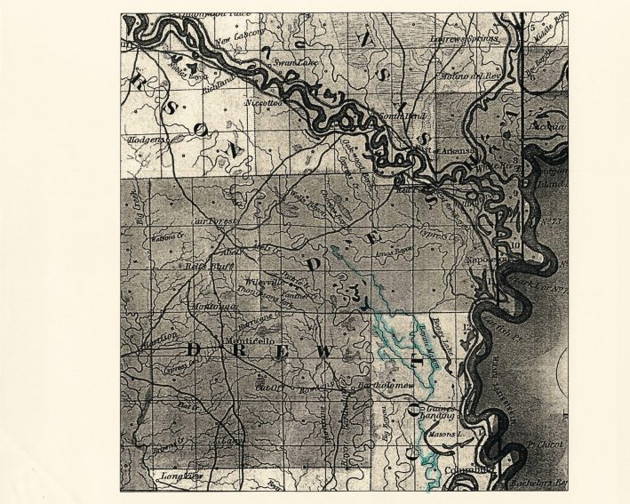 1841 Surveyor's Map - UAM Library Special Collections School of Social and Behavioral Sciences Record Group Subgroup: Historic Sites Series: Taylor Plantation Box One