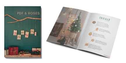 PDF and Roses Magazin Cover und aufgeschlagen