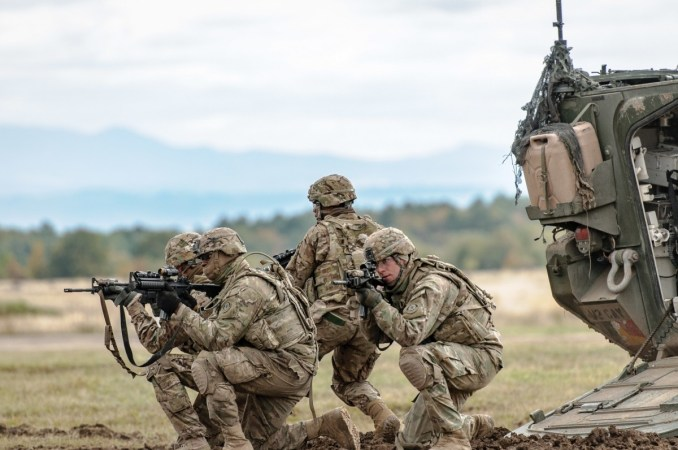 File photo of 2nd Cavalry Regiment Soldiers demonstrating dismount tactics at Exercise Slovak Shield 2016, Oct. 13, 2016, at Military Training Area Lest, Slovak Republic. U.S. Soldiers participated in Slovak Shield as a part of Operation Atlantic Res...