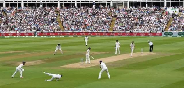 Jonny Bairstow was the first wicket to fall in the penultimate over before Lunch on Day 3.