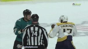 Micheal Haley vs. Wayne Simmonds