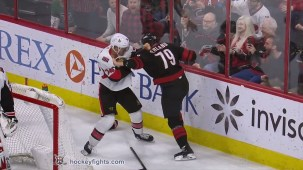 Micheal Ferland vs. Mark Borowiecki
