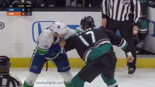 Ryan Kesler vs. Josh Leivo