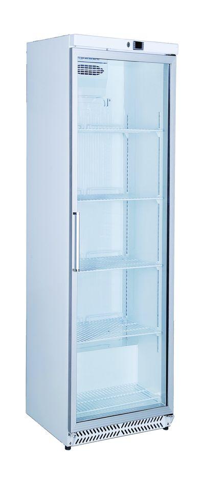 refrigerateur de stockage blanc eco 380 a porte vitree