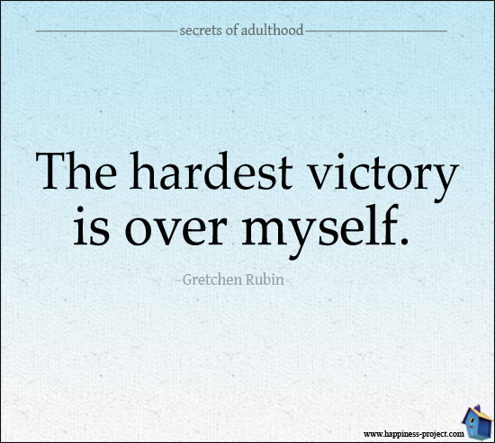 Agree, Disagree? The Hardest Victory Is Over Myself.